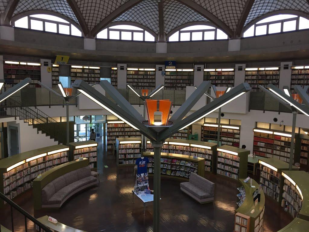 水戸市立西部図書館のスタンプラリー カーリル